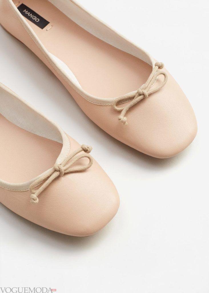 базовый гардероб туфли балетки