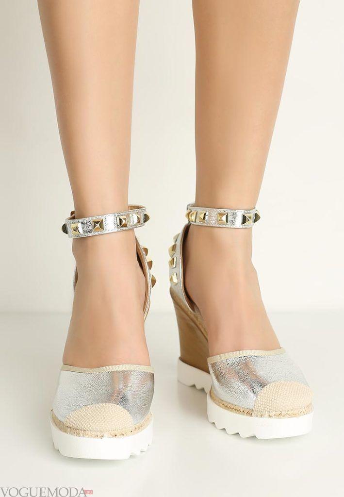 базовый гардероб туфли серебристые