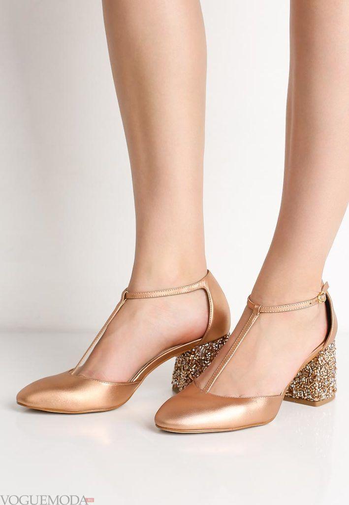 туфли золото