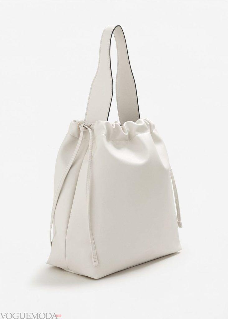 базовый гардероб сумка белая