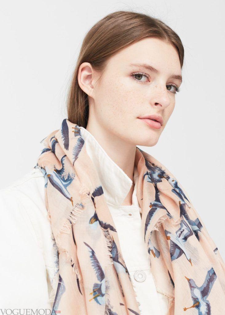 базовый гардероб шарф птицы