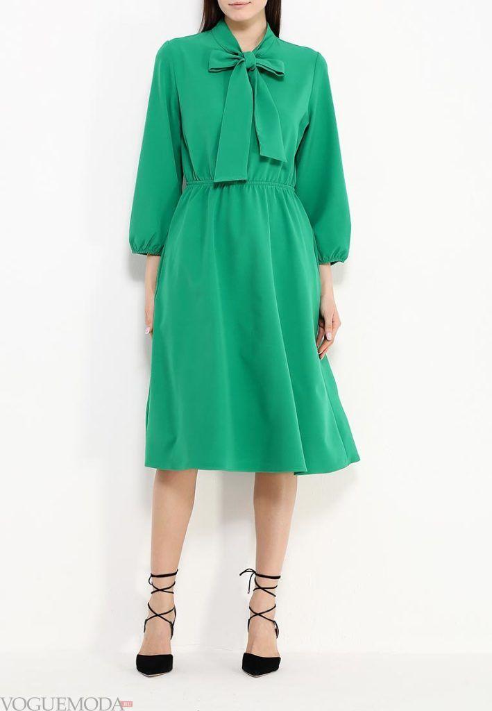 летнее платье зеленое