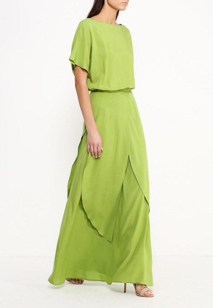 летнее платье салатовое