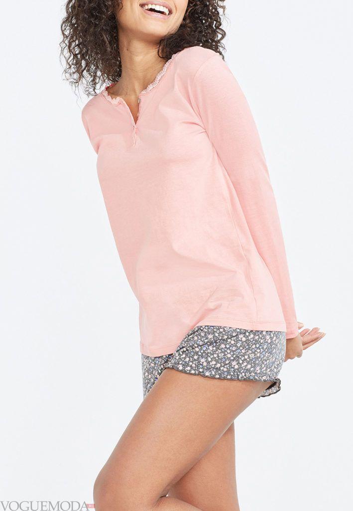 летние шорты с принтом