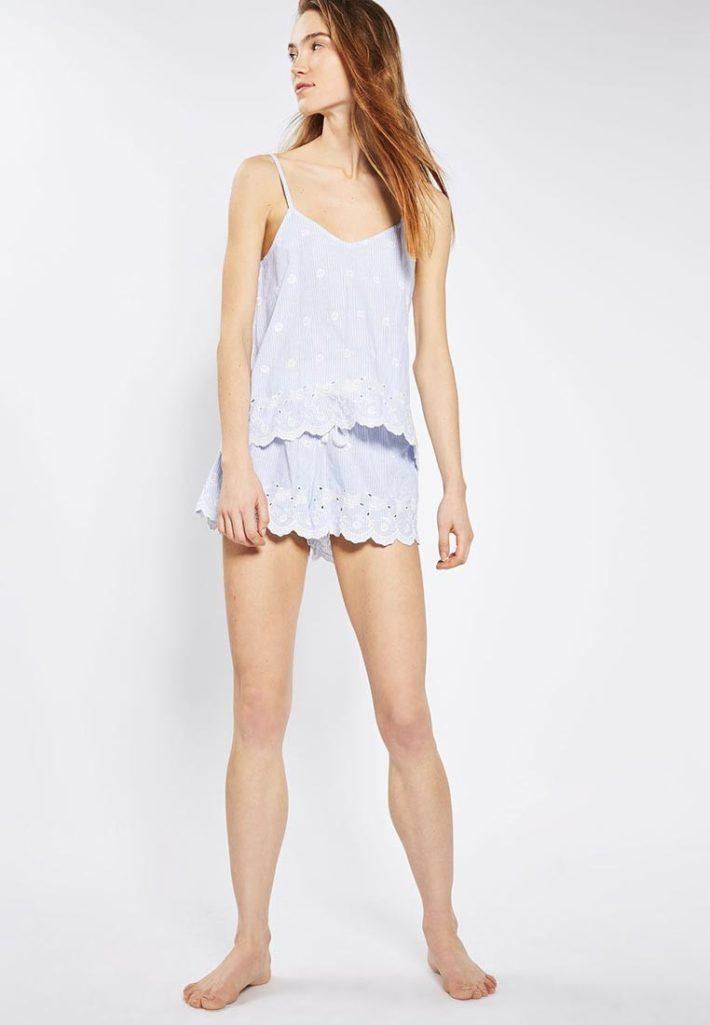 летние шорты полосатые