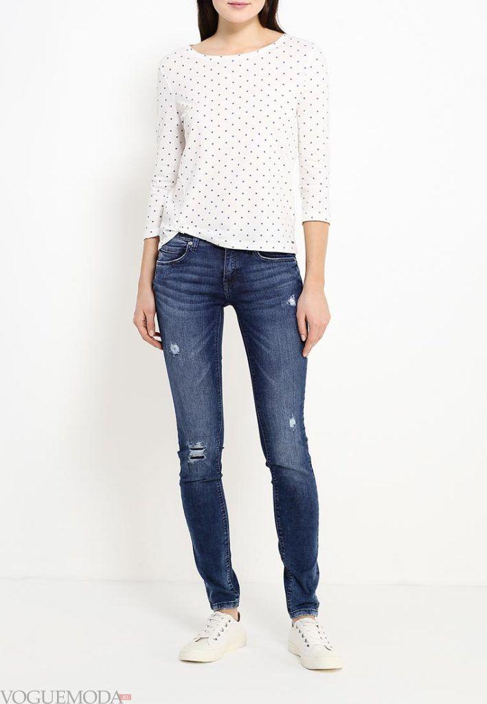 летние джинсы синие