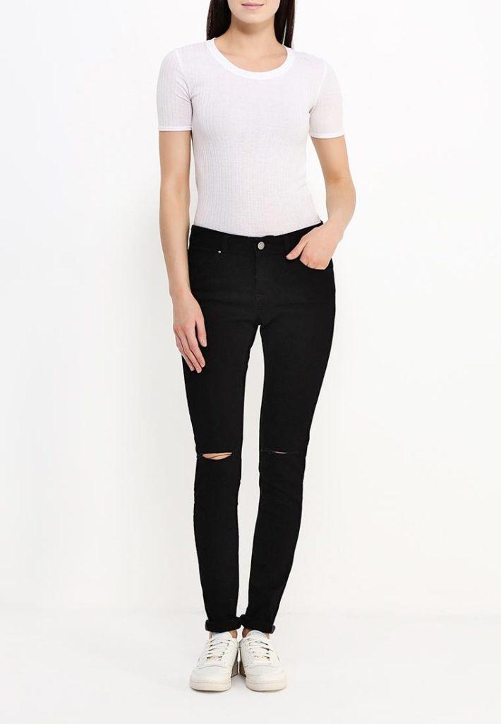 летние джинсы черные