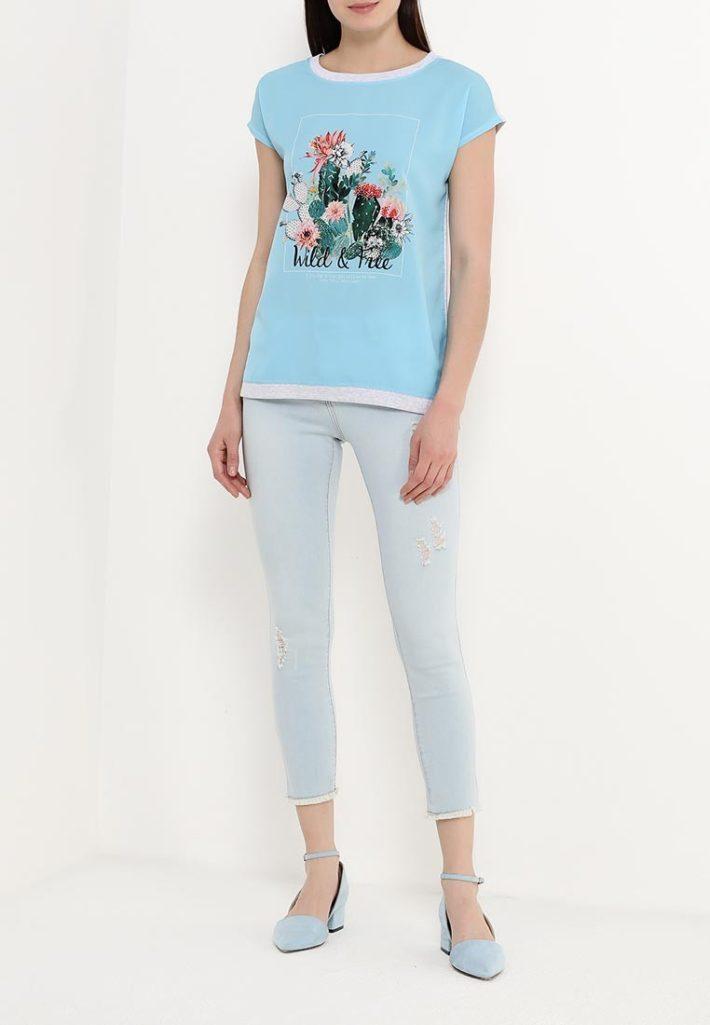 летние джинсы голубые