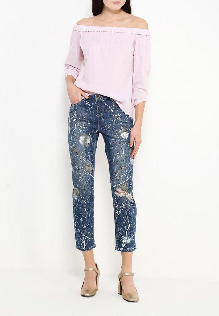 летние джинсы темные