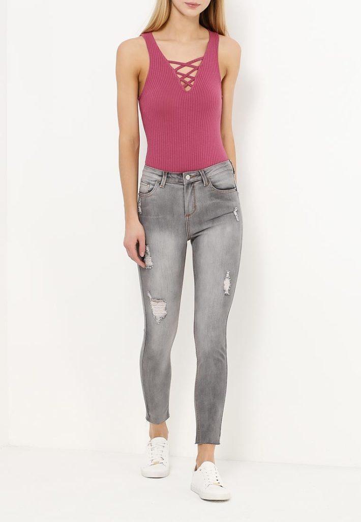летние джинсы серые