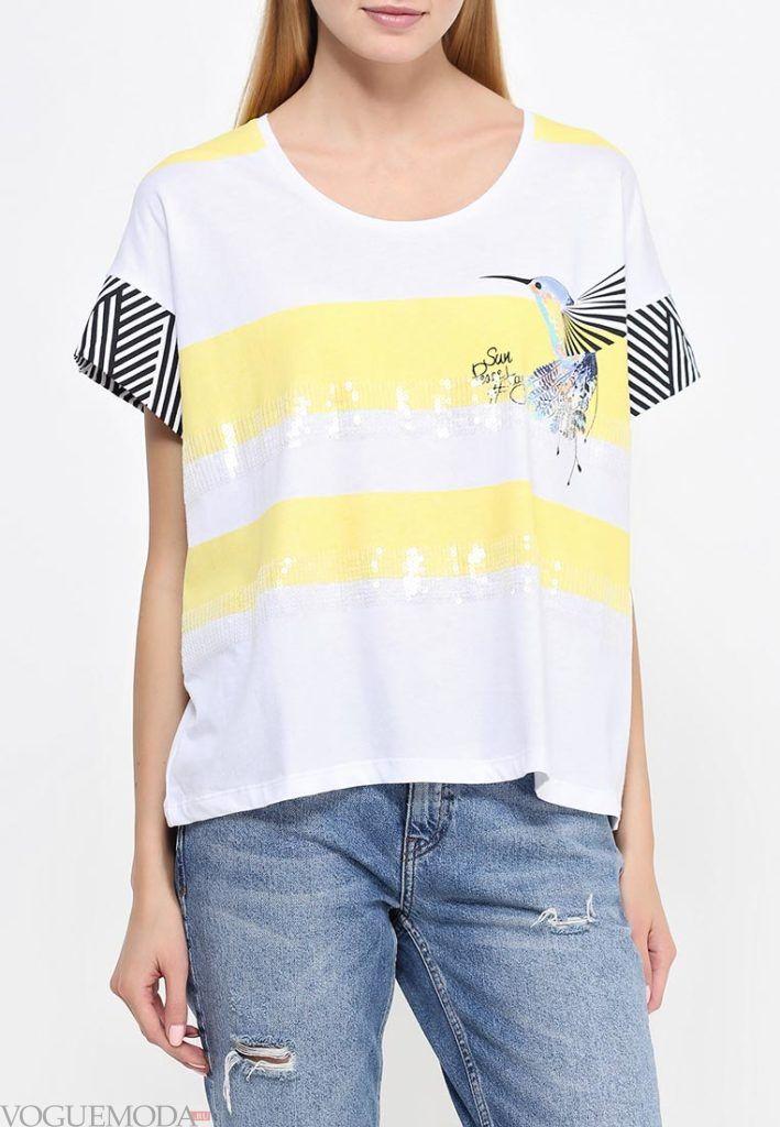 летняя футболка с полосками