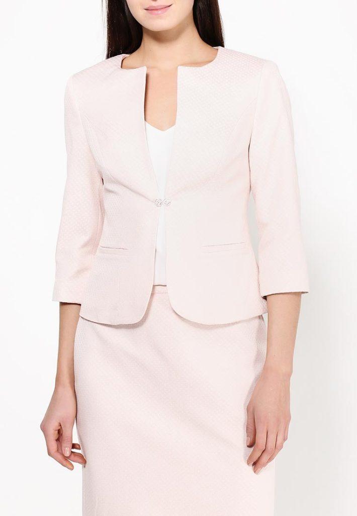 летний жакет розовый
