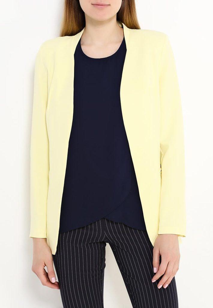 летний жакет желтый