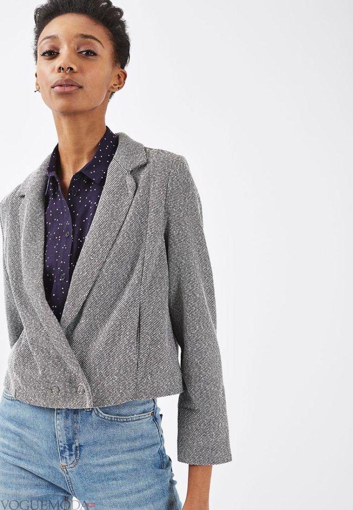 базовый гардероб на лето 2018 - летний жакет серый