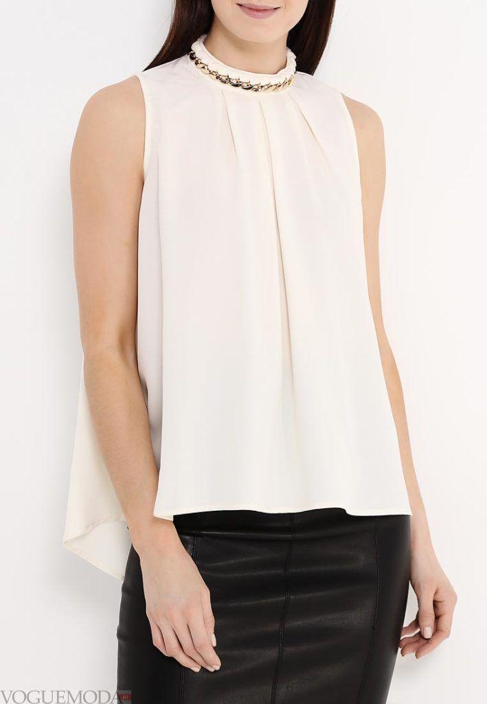блузка с воротником короткий рукав