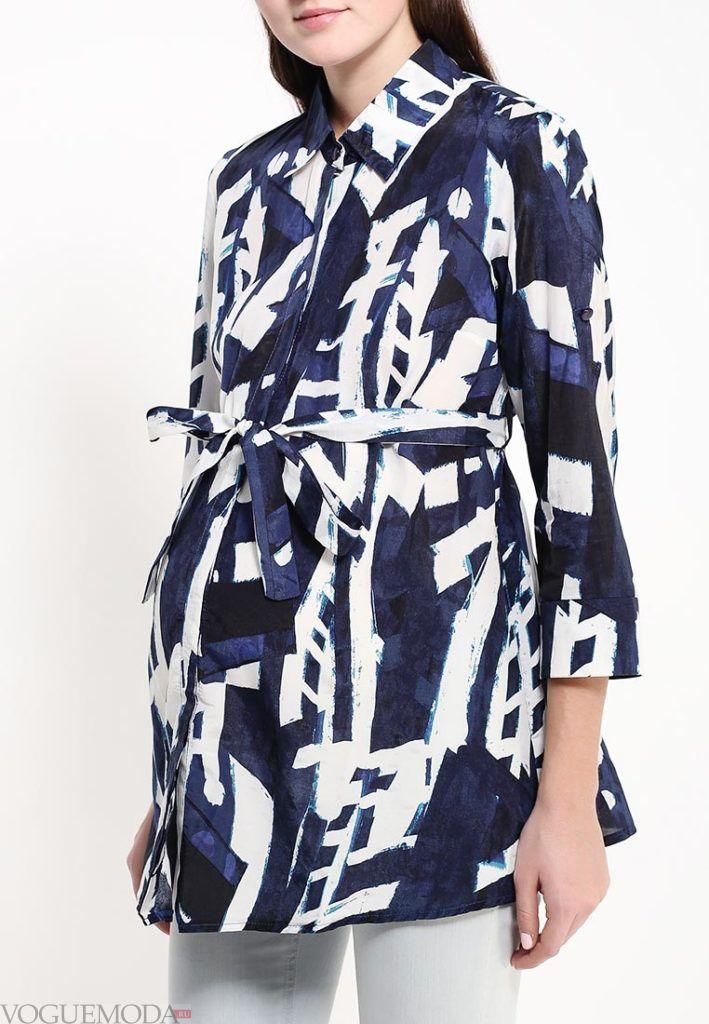 блузка с поясом и орнаментом