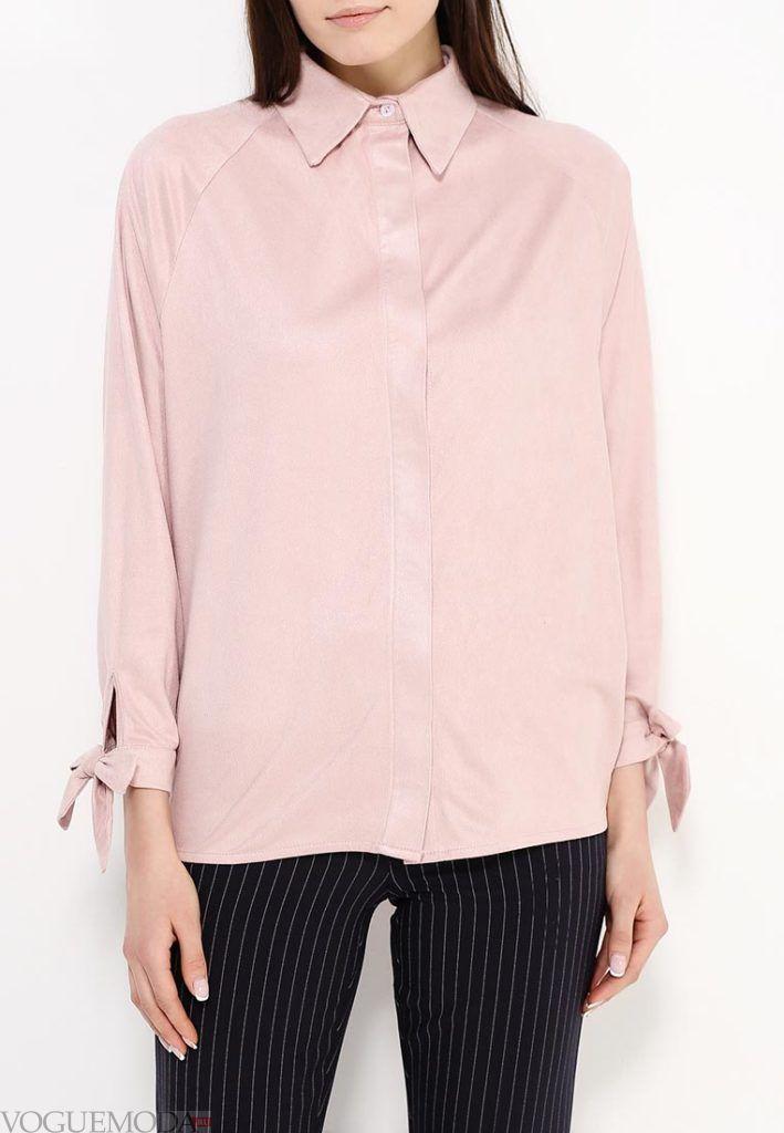 блузка цветная розовая