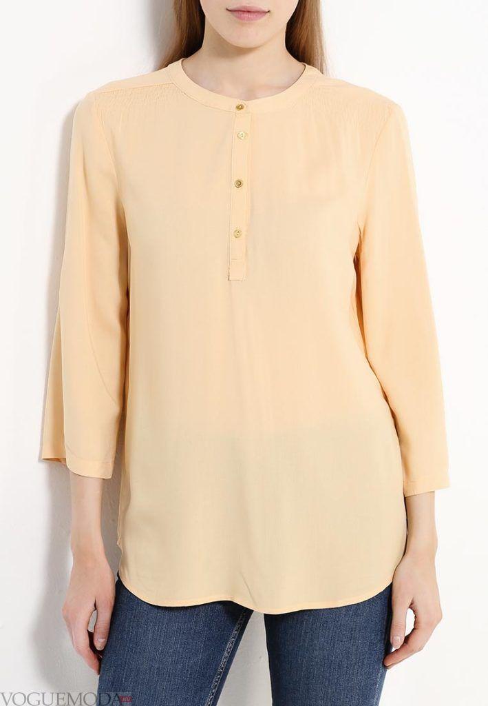 блузка цветная персиковая