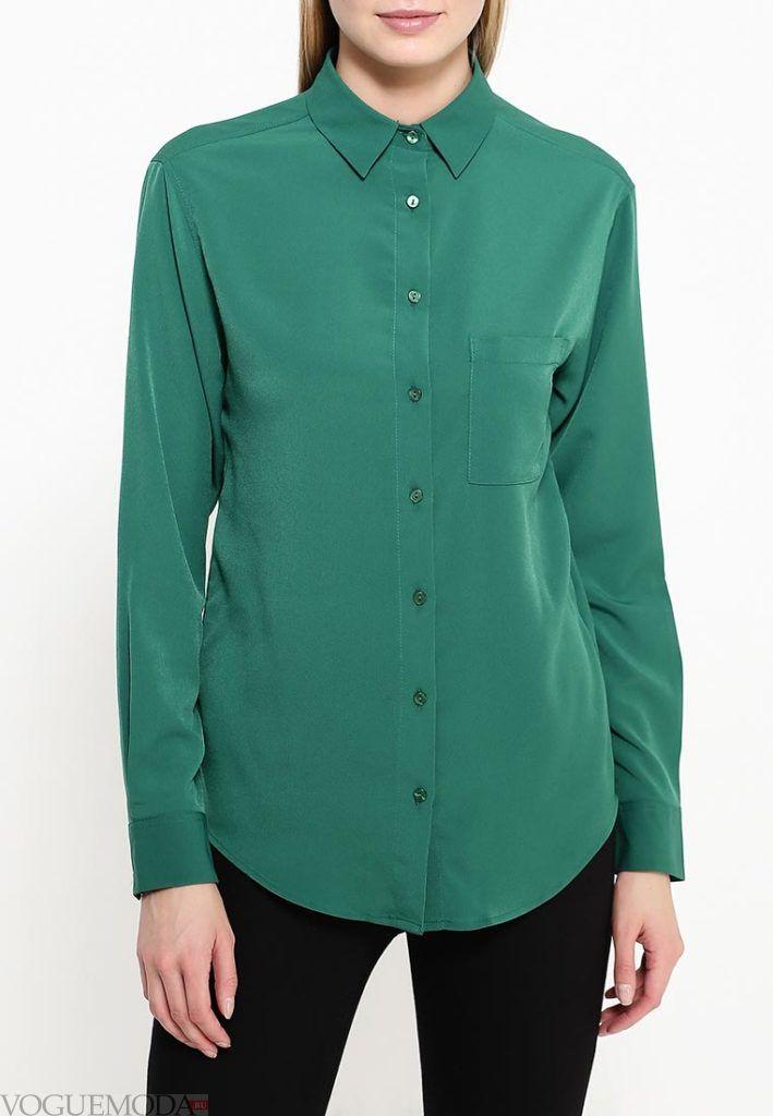 блузка цветная зеленая