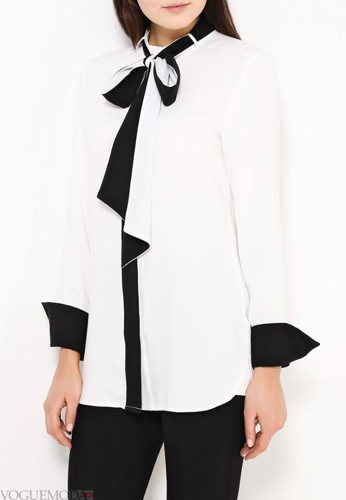 блузка цветная белая