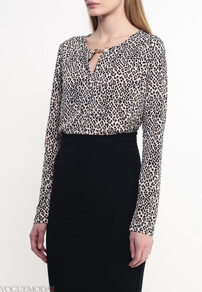 блузка цветная леопард