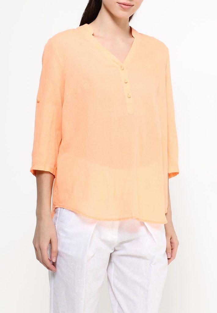 блузка персиковая