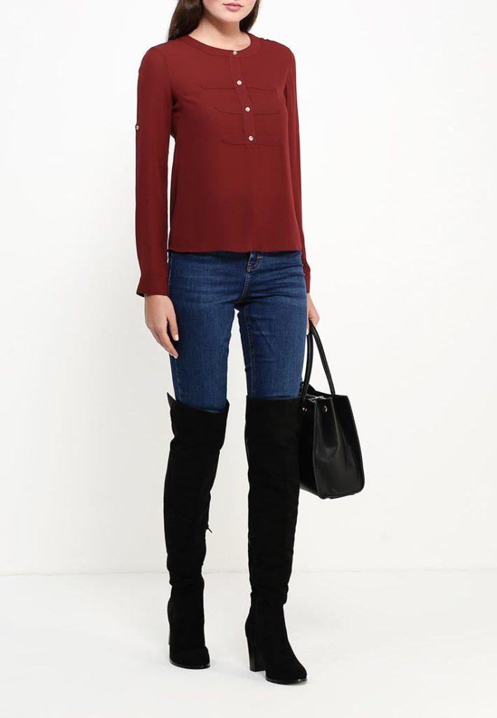 блузка бордо