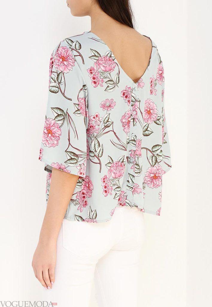 блузка в цветок