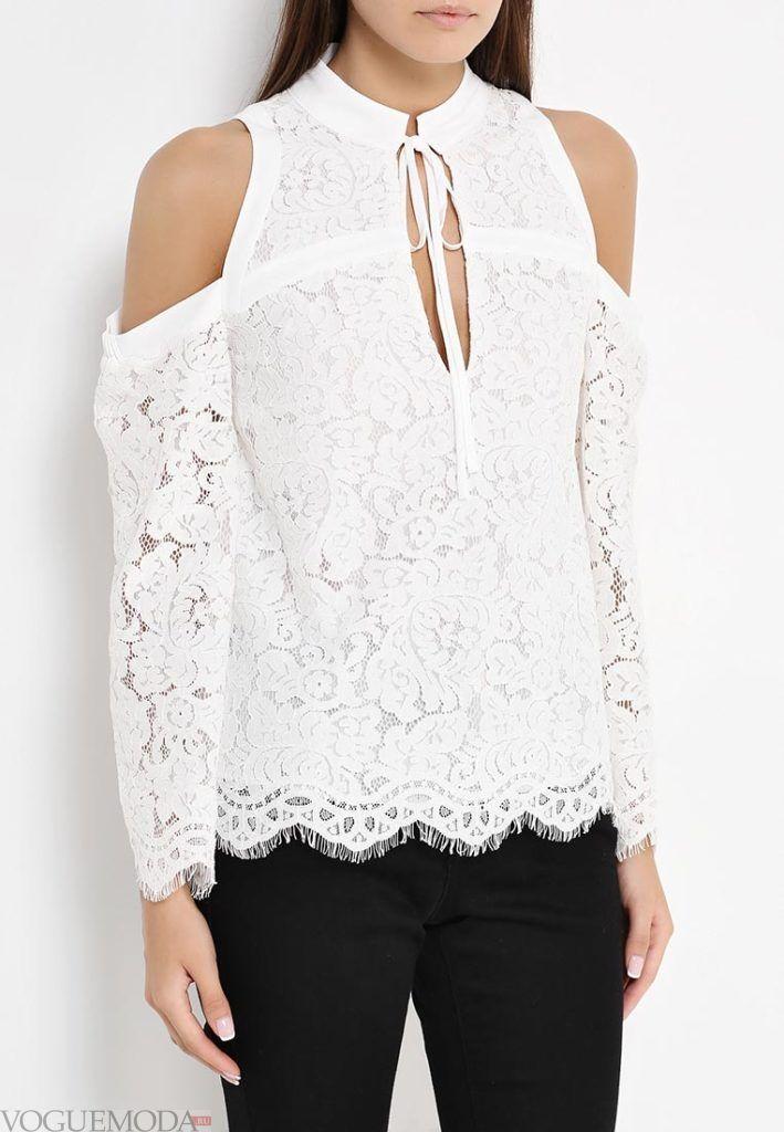 блузка с бантом кружево
