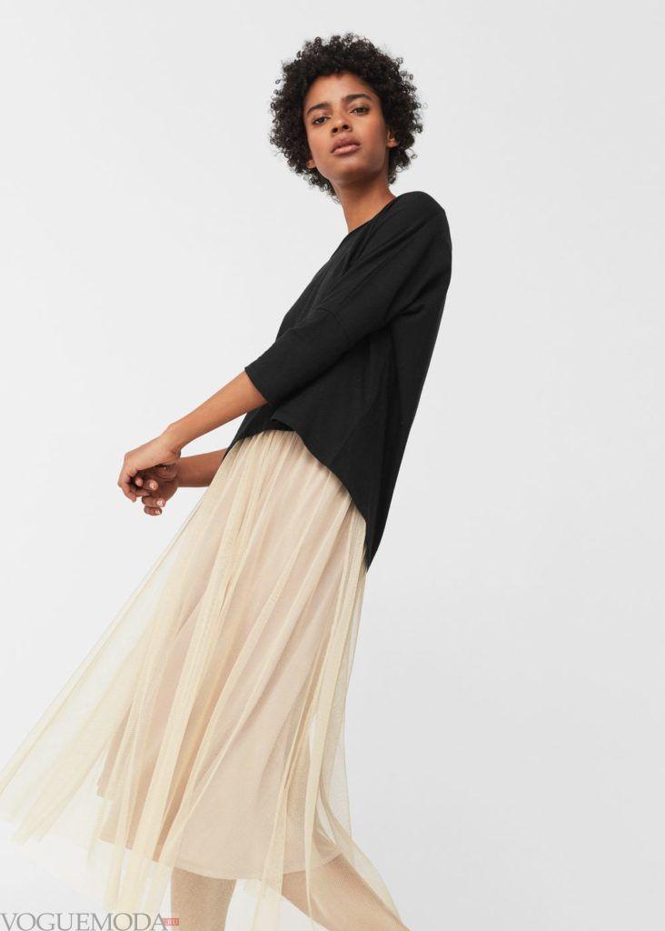 блузка асимметричная