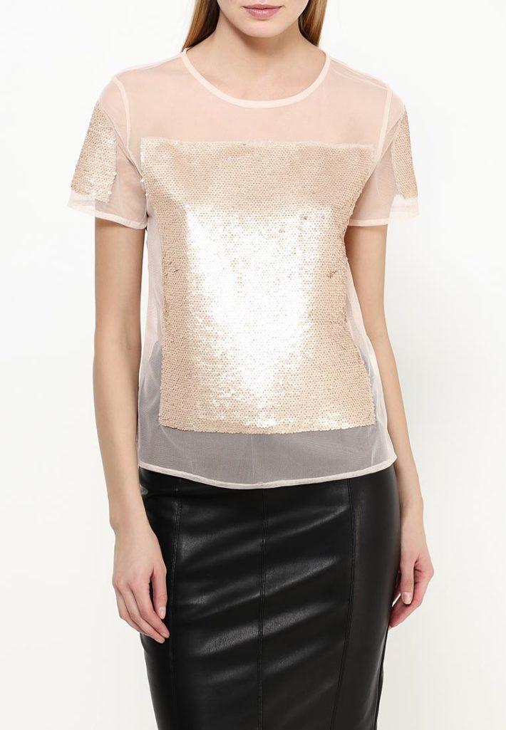 блузка с декором золото