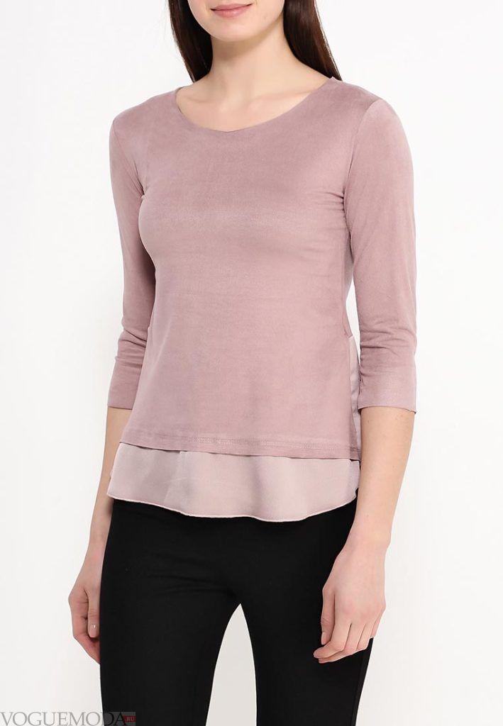 блузка асимметричная нюдовая