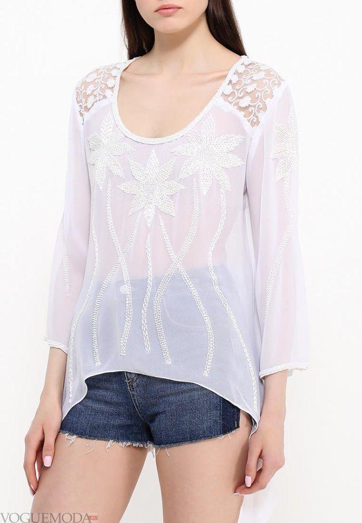 блузка асимметричная белая