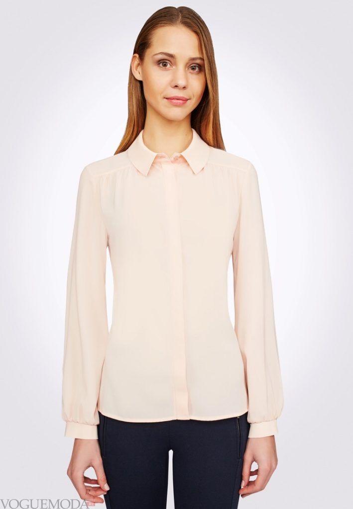 блузка шифоновая розовая