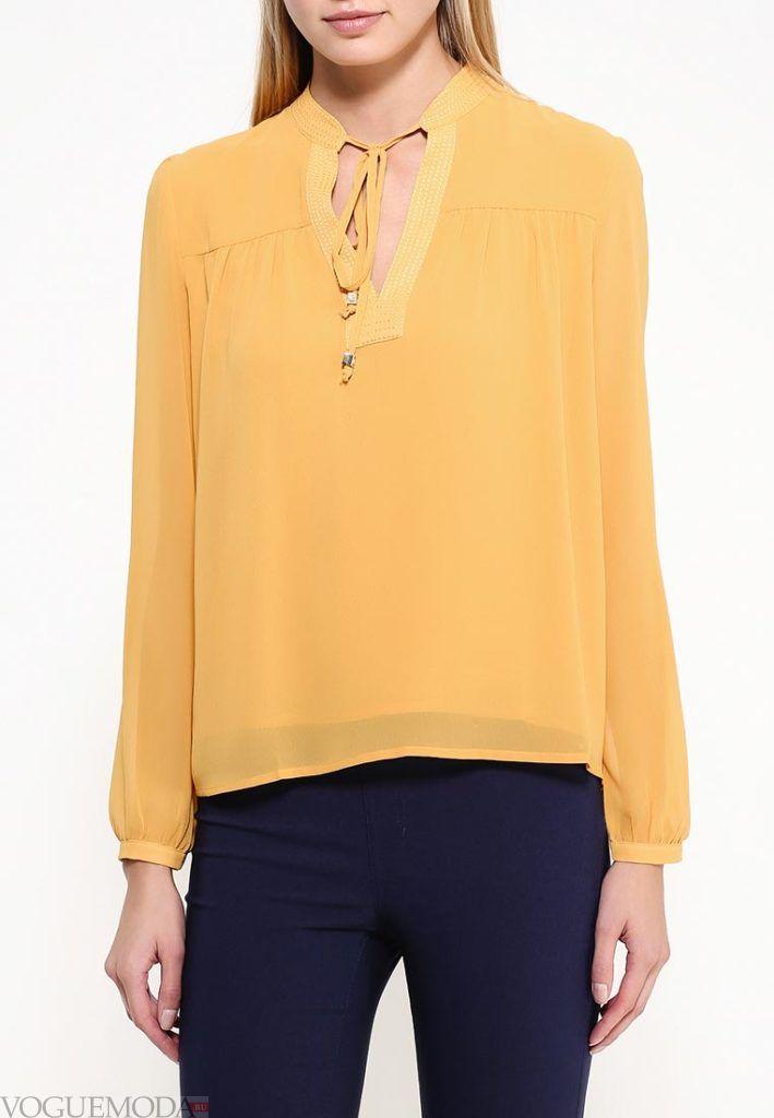 блузка шифоновая жёлтая