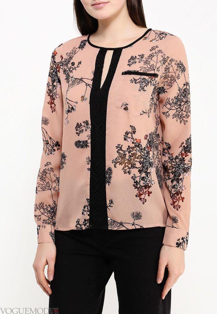 блузка шифоновая с изображением