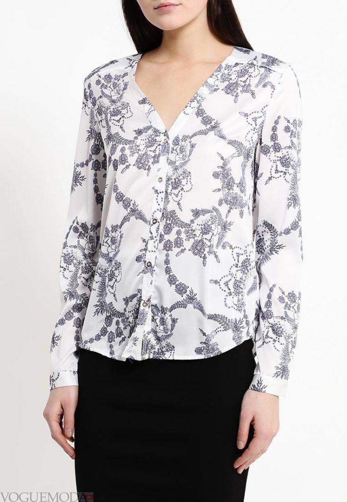 блузка шифоновая флора