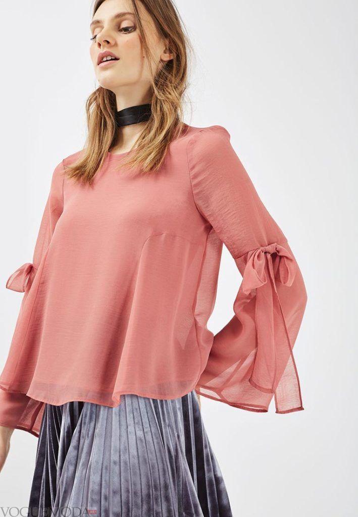 блузка с прозрачной тканью