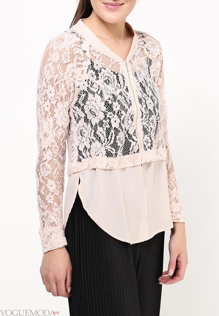 блузка с прозрачной тканью розовая