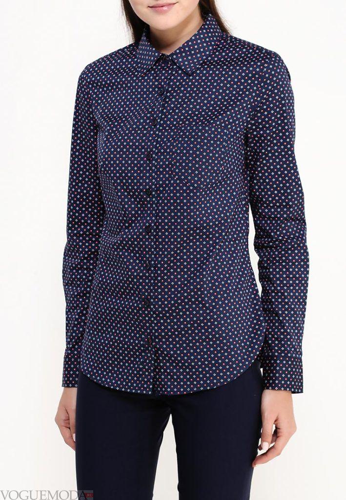 блузка унисекс синяя