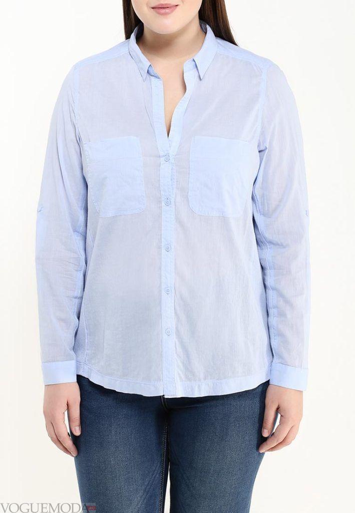 блузка унисекс голубая