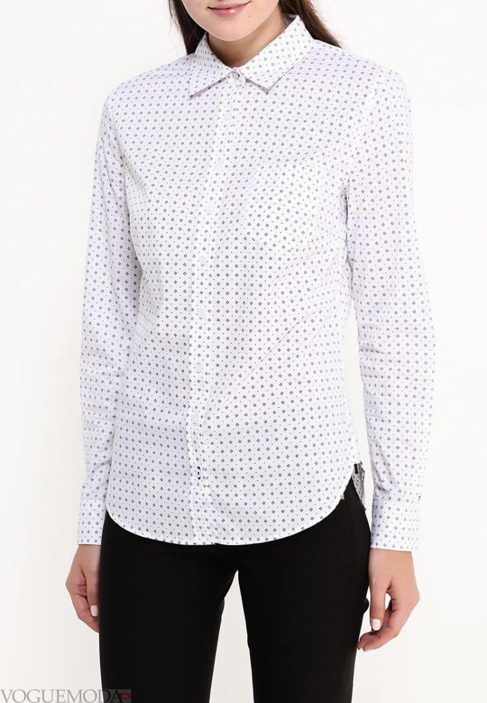 блузка унисекс белая