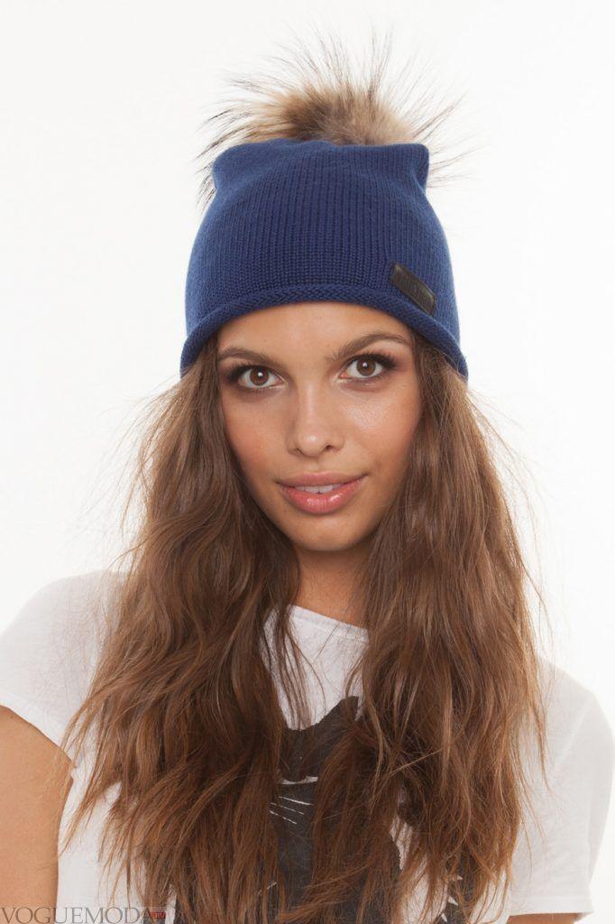 Головные уборы осень зима 2020 2021: модная шапка синяя