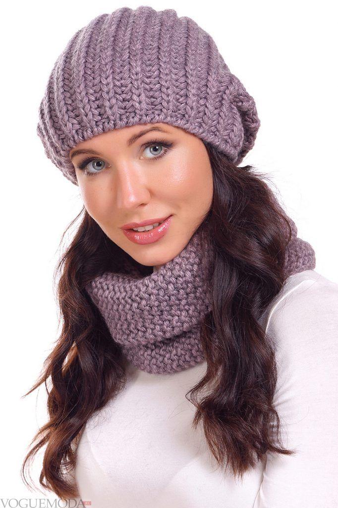 Головные уборы осень зима: модная шапка вязаная