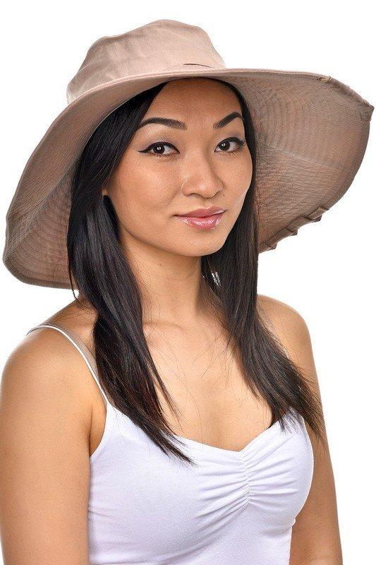 широкополая шляпа мокко