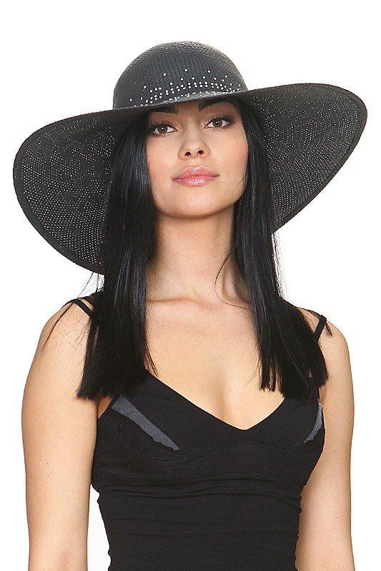 широкополая шляпа черная