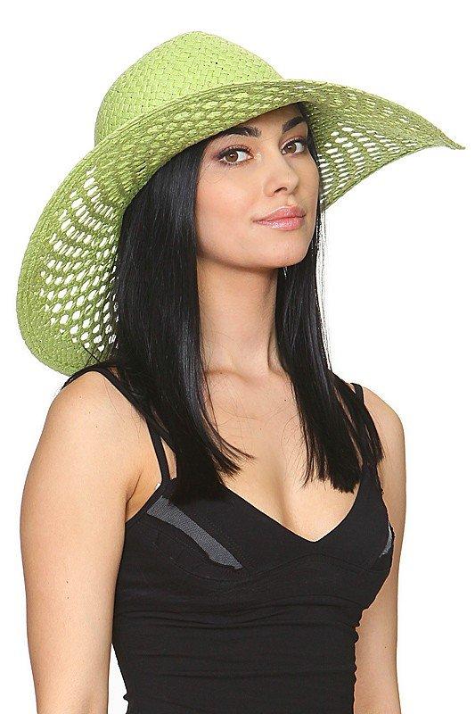 широкополая шляпа зеленая