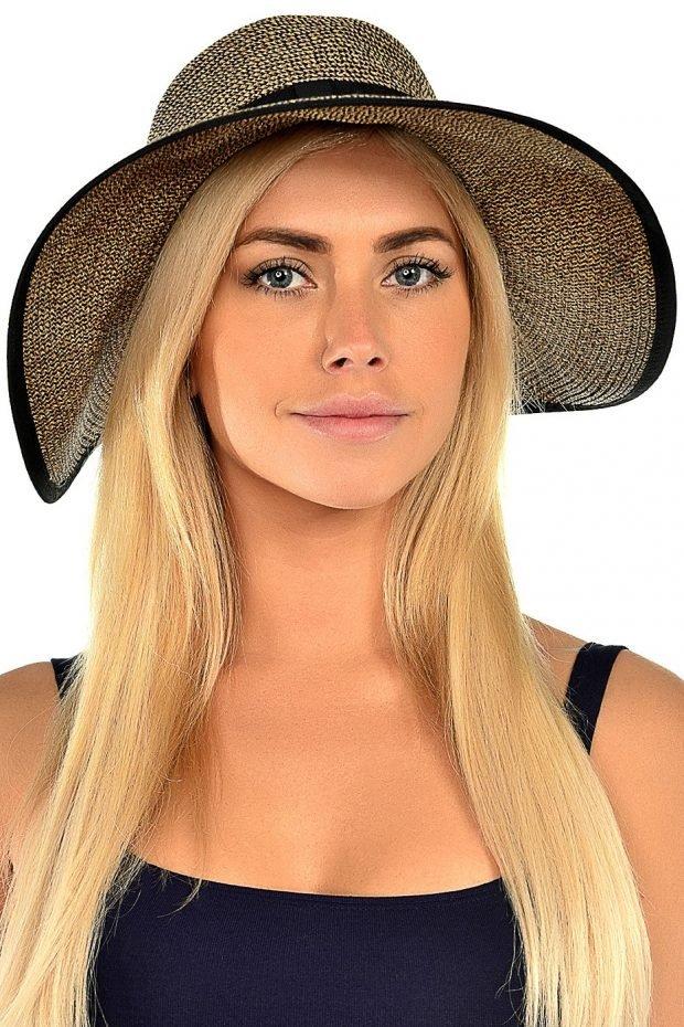 широкополая шляпа с декором