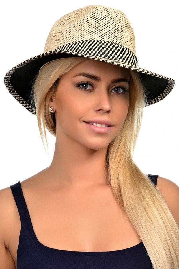 соломенная шляпа светлая