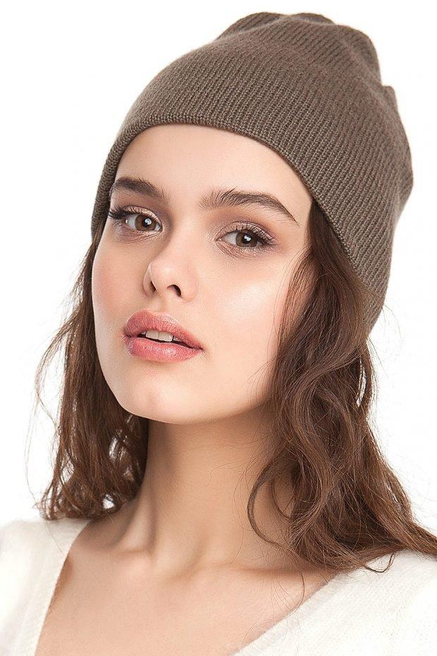 шапка бинни мокко